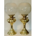 A Pair of Vintage Oil Lamps