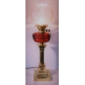 Cranberry Electrified Oil Lamp